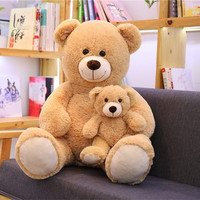 1m Lovely Stuffed Teddy Bear with Child Classical Doll soft Plush Toy Birthday Gifts For Girlfriends Baby Sleeping Toy