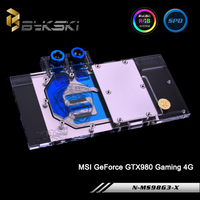 Bykski N MS98G3 X, Full Cover Graphics Card Water Cooling Block RGB/RBW for MSI GeForce GTX980 Gaming 4G