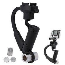 Preto/Azul/Vermelho Mini Handheld Câmera Estabilizador de Vídeo Steadicam Cardan Para Gopro 5/6 xiaomi