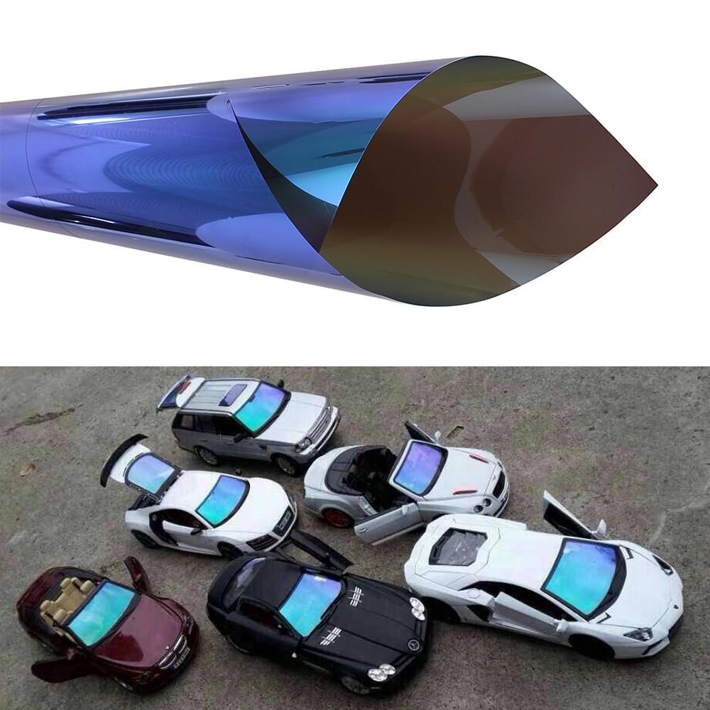 50cm 300CM Chameleon Car Side Window Solar Film Tint Protective Car Sticker Resistant Membrane Car Accessories