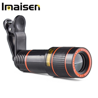 4 in1 Mobile phone lens kit wide angle + macro + fisheye + telephoto lens for iphone & android