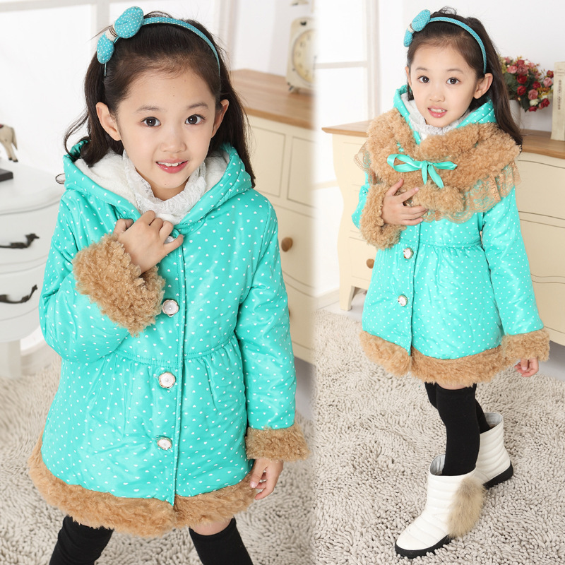 Free shipping Winter new arrival winter sweet girls single-breasted collars and cotton outerwear coat children clothing free shipping boruoss 2015 new fashion winter cotton coat women short single breasted coat boruoss w1292