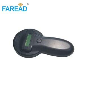Image 3 - X5 משלוח חינם 134.2KHz microchip סורק HDX FDX B בעלי החיים RFID כף יד עיד אלקטרוני אוזן תג לחיות מחמד שבב קורא