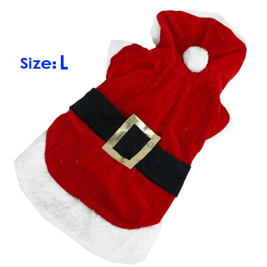 Hot  Santa Claus Dog Hoodie Costume - Size L