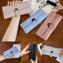 Womens Wallets and Purses Plaid PU Leather Long Wallet Hasp Phone Bag Money Coin Pocket Card Holder Female Wallets Purse цена 2017