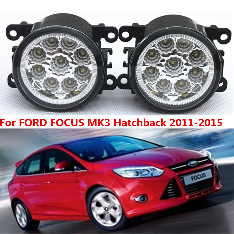 FORD FOCUS MK3 Hatchback 2011-2015 Car styling front bumper LED fog Lights high brightness lamps 1set - Shenzhen Rand Automotive accessories trading company Store store