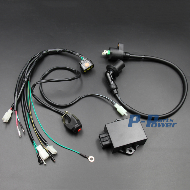 complete wire wiring harness wiring loom cdi coil kill switch kits for  lifan w150cc zhongshen 155cc pit pro trail dirt bike new
