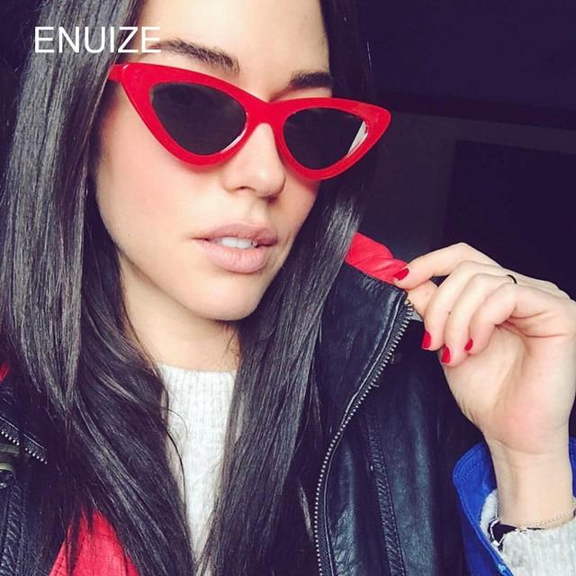 Small Sunglasses Women Brand Designer Ladies Sun Glasses Vintage Sexy Eyewear Shades UV400 Red Rljmz