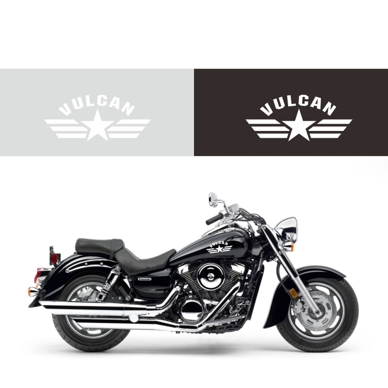 Army Star Decals Vinyl Decal Sticker For Kawasaki Vulcan <font><b>VN1500</b></font> VN1600 VN1700 VN2000 VN500 VN800 VN900 image