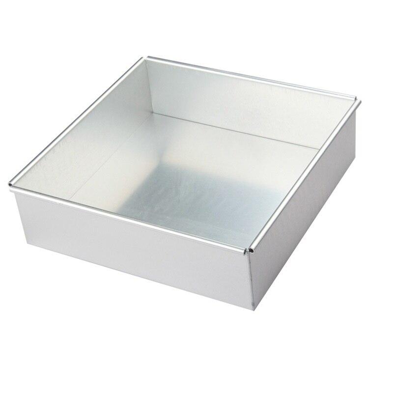 높은 품질 4 6 8 10 인치 광장 활동 합금 알루미늄 양극 케이크 굽기 실리콘 금형 도구 주방 악세사리 칼