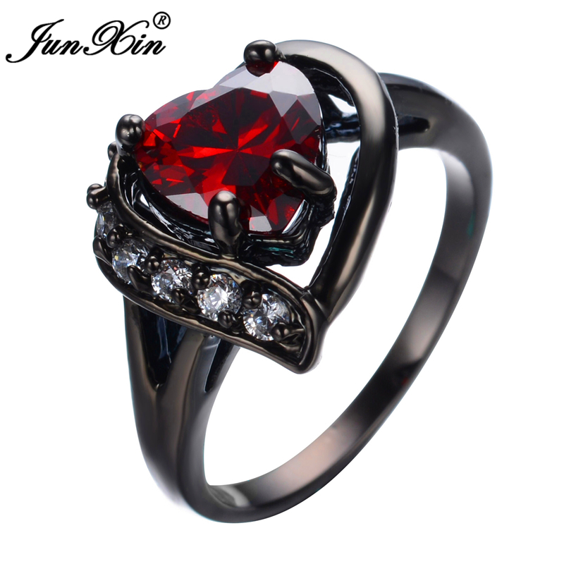 Aliexpress.com : Buy JUNXIN Romantic Big Heart Ring ...