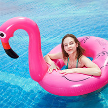 где купить Giant Inflatable Flamingo Unicorn Pool Floats Swimming Rings Floating Chair Air Bed for Beach Pool Party Water Sports Swimming по лучшей цене