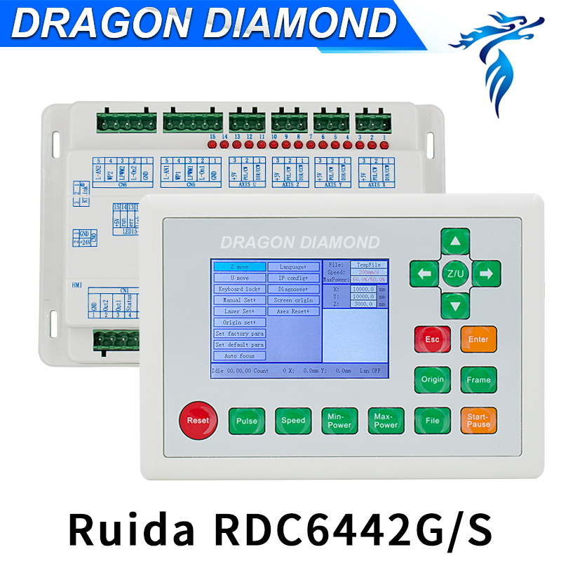 CO2 Laser Machine Ruida 6442G CO2 Laser DSP Controller For Laser Engraving And Cutting Machine поводок для собак happy house luxury цвет темно коричневый длина 125 см