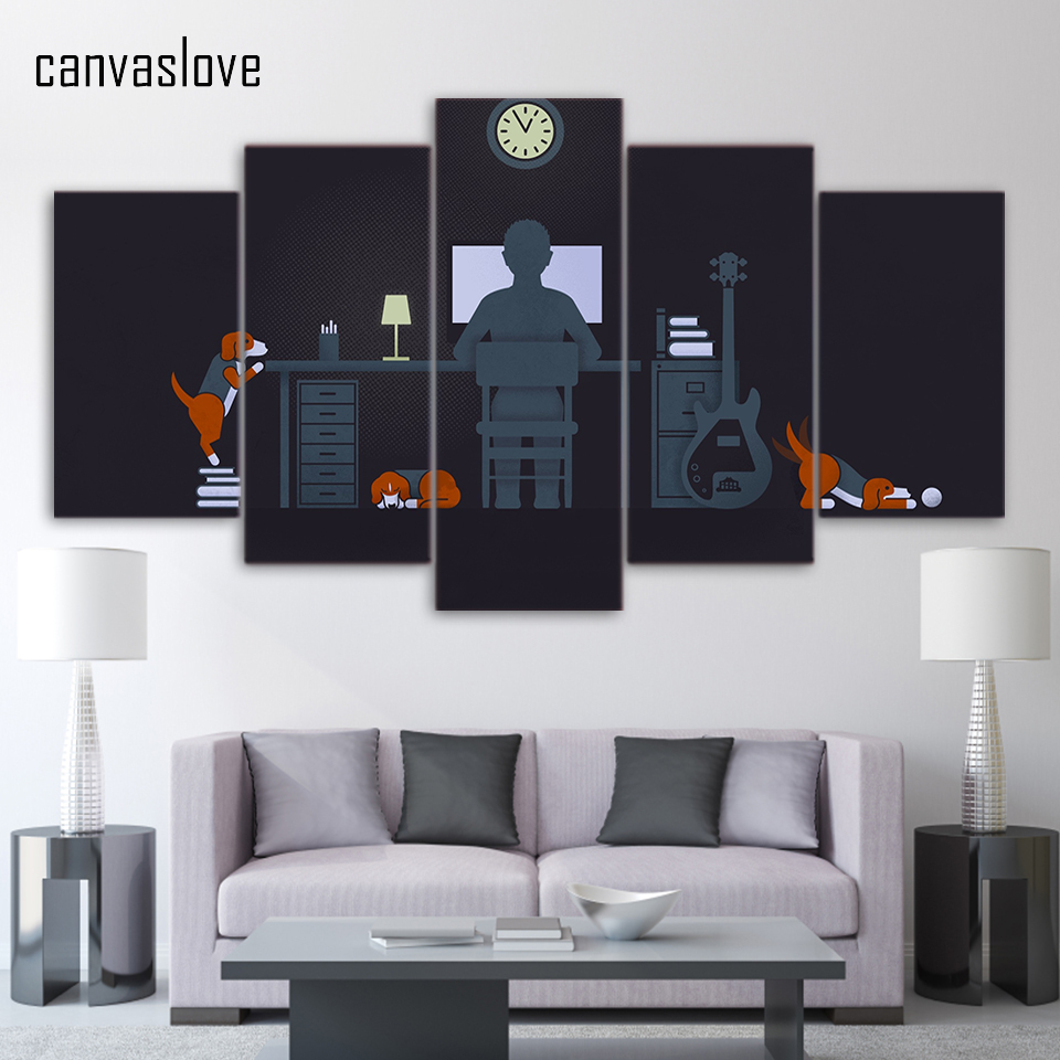 popular office art workbuy cheap office art work lots from china  -  piece canvas art minimalism office work wall pictures for living roomposter and prints wall