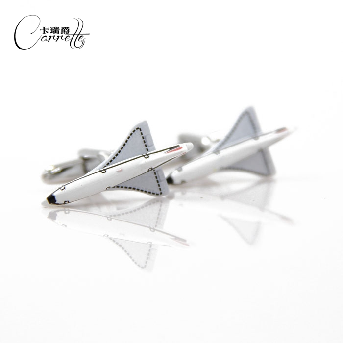 The new creative personality aircraft modeling cufflinks nail sleeve mens cufflinks French shirt cufflinks nail M