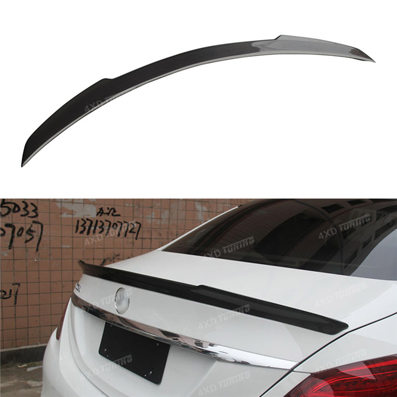 For Mercedes W205 AMG Spoiler FD Style Sedan C Class W205 C63 C180 C200 C250 C260 Carbon Fiber Rear Spoiler Trunk Wing 2014-UP w204 c180 c200 c260 c300 carbon fiber car rear trunk lip spoiler wing for mercedes benz w204 c63 4 door 2008 2013 amg style