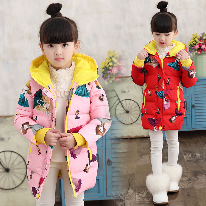 Baby Girls Jackets 2018 Autumn Winter Jacket For Girls Winter Cartoon Coat Kids Clothes Children Warm Hooded Outerwear Coats girls coat new 2017 fashion thicken outerwear coats solid kids warm jacket hooded girls winter jackets 5 14y children costume