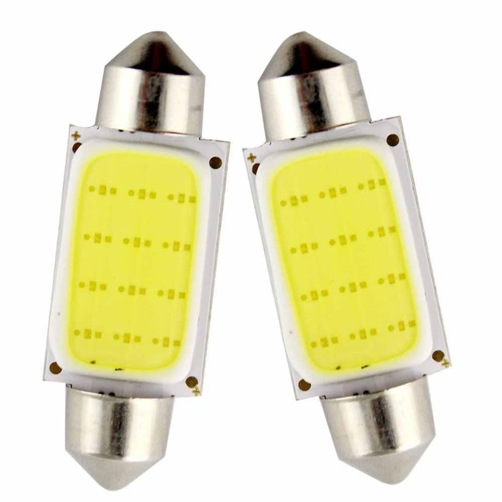 kebedemm 10pcs/lot Car COB light 1.5W DC12V Interior Car LED Bulbs Lamp 31mm 36mm 39mm 41mm Interior Dome Lights Plate lamp Bulb