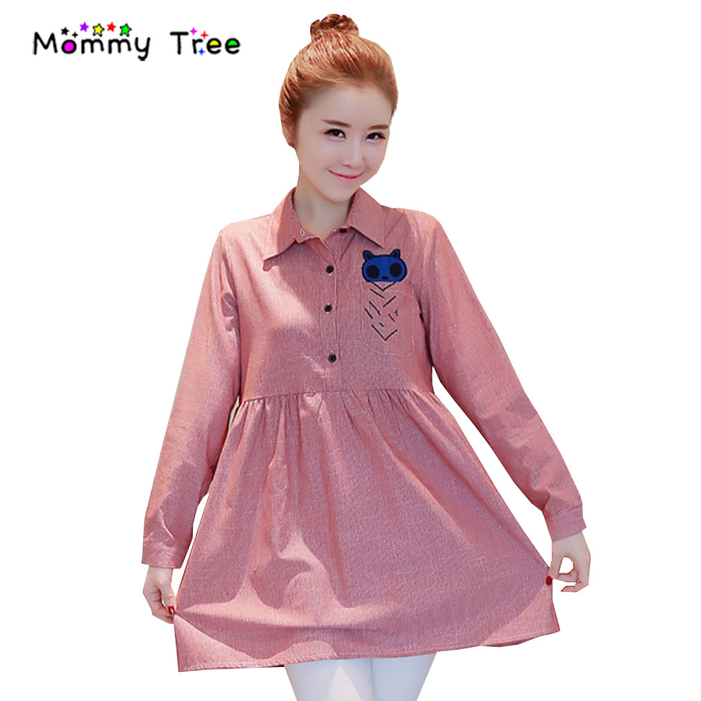 Online get cheap long maternity dresses for office aliexpress fashion maternity shirt dress women 2017 pregnancy clothes long sleeve casual loose office dresses for pregnant ombrellifo Image collections