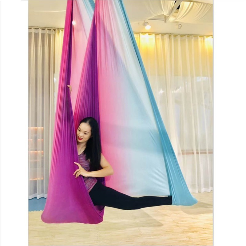 XC High Strength Colorful Aerial Yoga Hammock 5mx2.8m Anti-Gravity Yoga Belts For Exercise Yoga Top Air Yoga Hammock Swing Bed