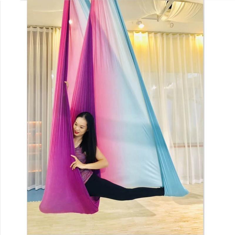 XC Haute Résistance Coloré Yoga Aérien Hamac 5 m x 2.8 m Anti-Gravité Yoga Ceintures Pour L'exercice De Yoga top Air Yoga Hamac Swing Lit