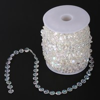 99FT Garland Diamond Acrylic Crystal Bead Curtain Wedding DIY Party Decor V3NF