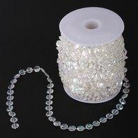99FT Garland Diamond Acrylic Crystal Bead Curtain Wedding DIY Party Decor V3NF