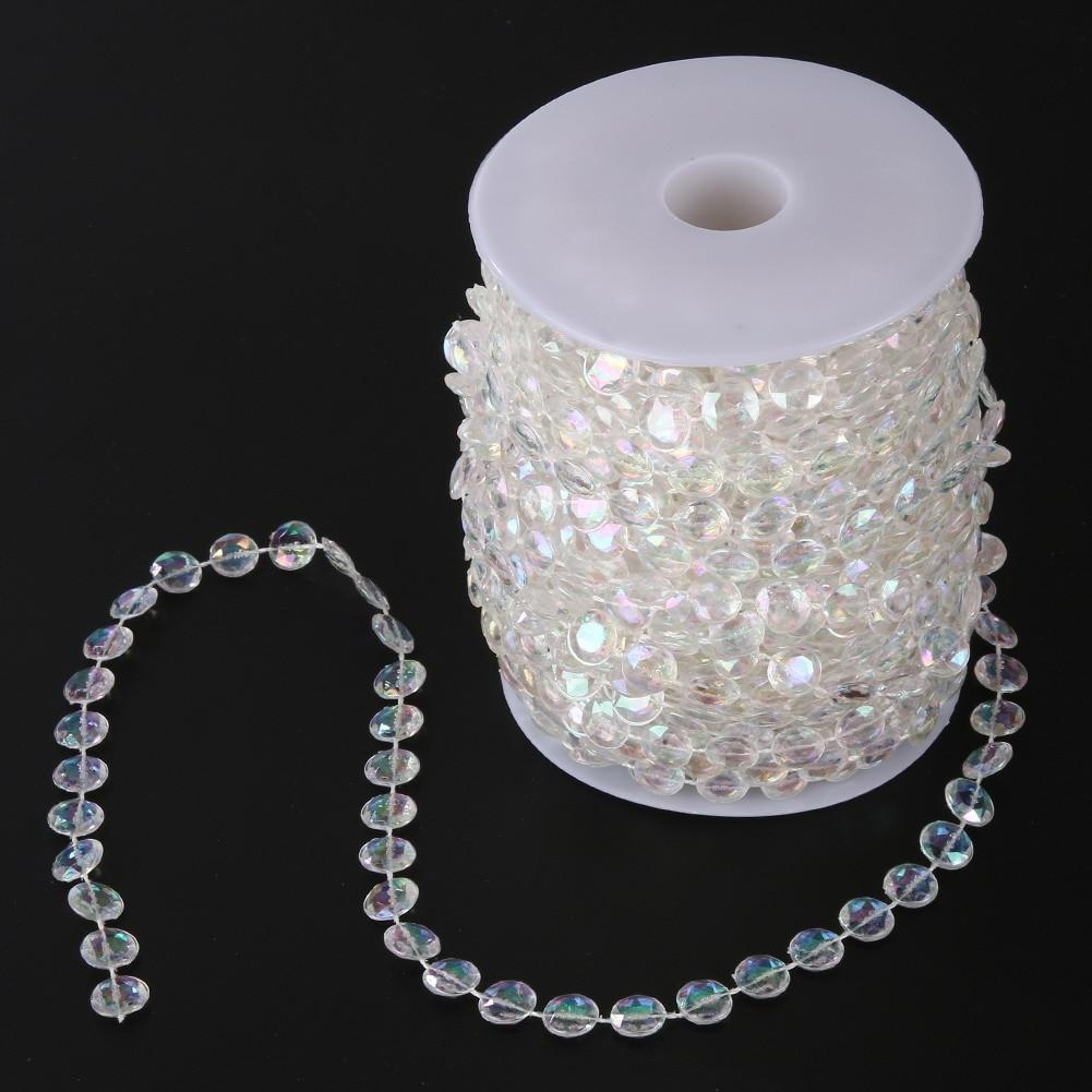 Wedding Decoration 30M Acrylic Crystal Garland Curtain Diamond Acrylic Crystal Bead Curtain DIY Birthday Party Decor