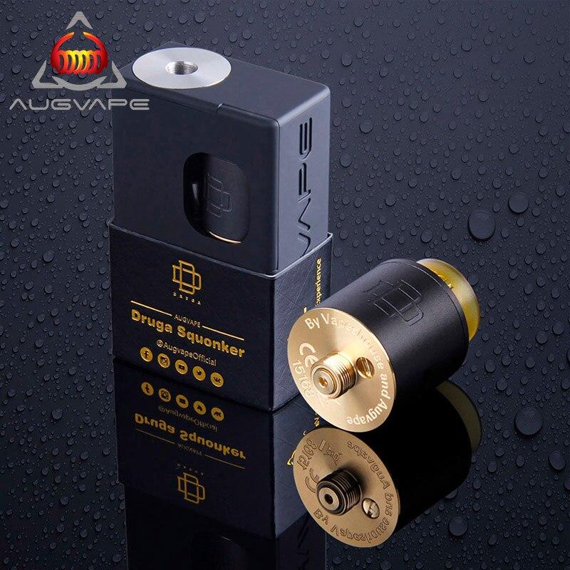 Augvape Druga Squonker box 22mm Druga RDA Original Elektronische Zigarette Kit Single Coil Splendid Geschmack Arbeit mit 18650 Batterie