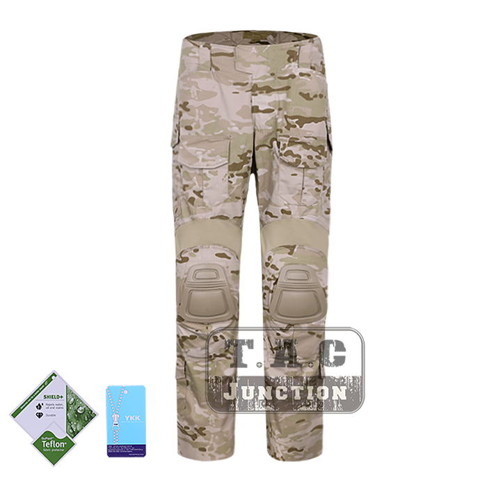 Tactical Emerson New BDU G3 Combat Pants Emersongear CP Style Battlefield Trousers Assault Uniform w/ Knee Pads Multicam Arid mgeg militar tactical cargo pants men combat swat trainning ghillie pants multicam army rapid assault pants with knee pads
