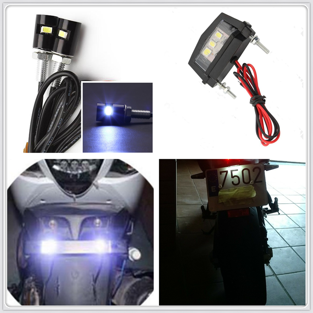 New Motorcycle Lights Tail Rear LED License Plate Light Bulb For Kawasaki ZX7R ZX7RR ZX9 ZZR1200 ER5 GPZ500S EX500R NINJA