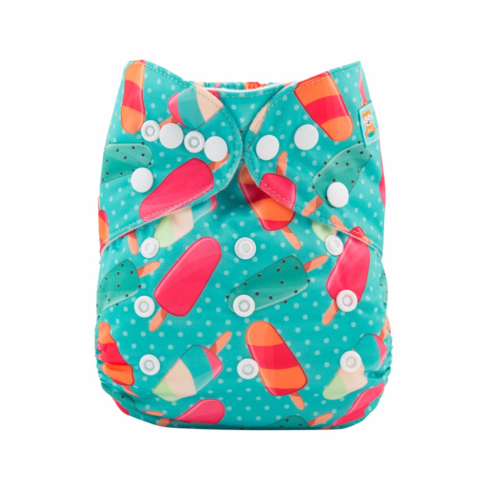 1 Microfiber Insert ALVA Baby Cloth Diapers One Size Reusable Pocket Nappies