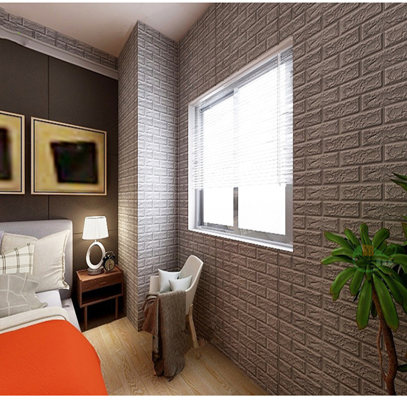 US $2.72 44% di SCONTO Moderna rimovibile auto adesivo piano convessa  mattoni schiuma autoadesivo della parete per soggiorno di casa decorazione  da ...