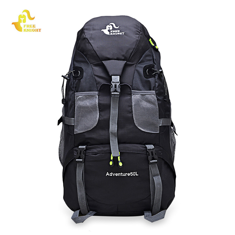 Free Knight 50L Waterproof Mountaineering Backpack Climbing Cycling Camping Travel Bag Rucksack 5 Color Outdoor Sport Molle Bag brand creeper 30l professional cycling backpack waterproof cycling bag for bike travel bag hike camping bag backpack rucksacks