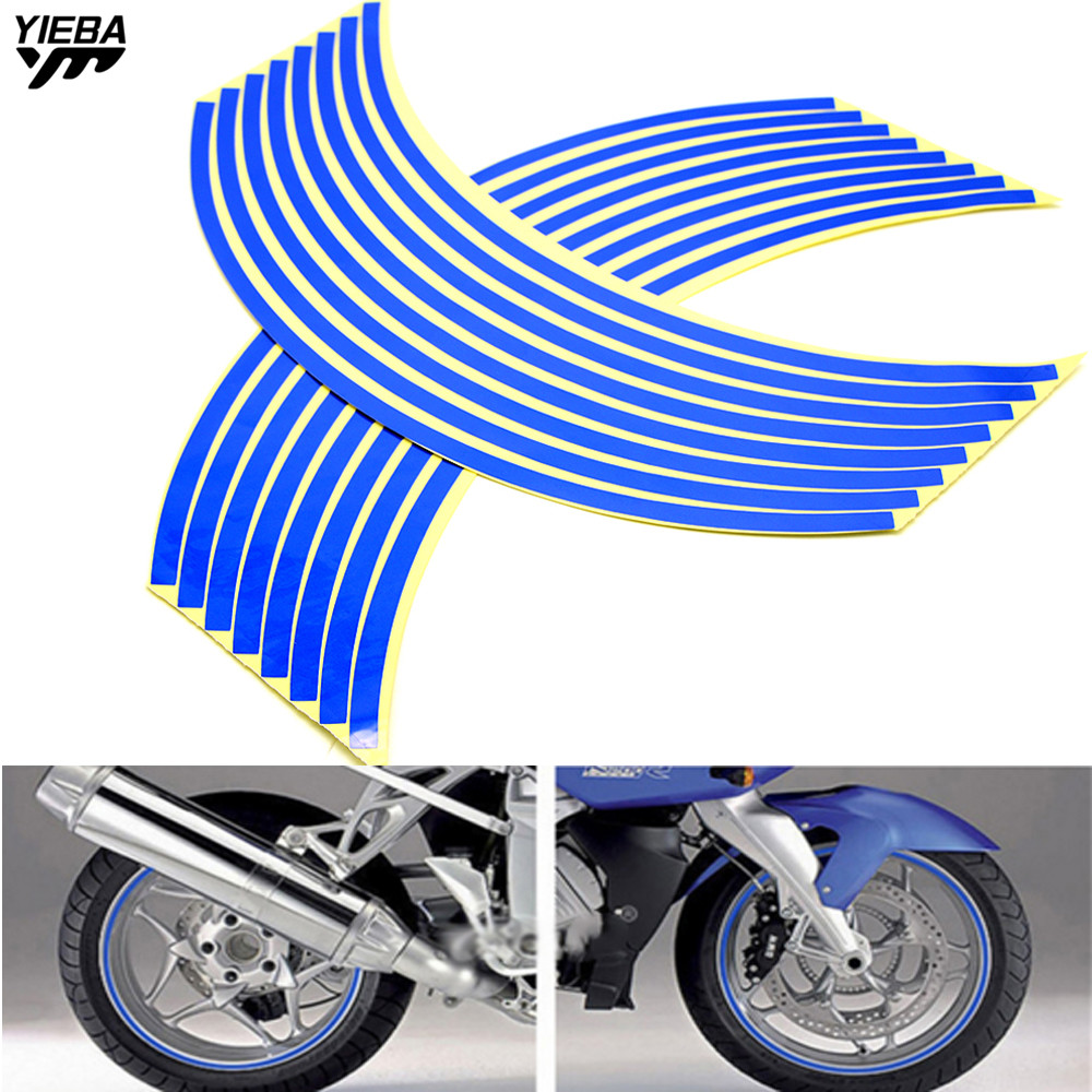Wheel Sticker Reflective Rim Stripe Tape Bike Motorcycle Car 17 18inch FOR BMW S1000RR S1000R R1200GS F650GS F800GS F800R F700GS