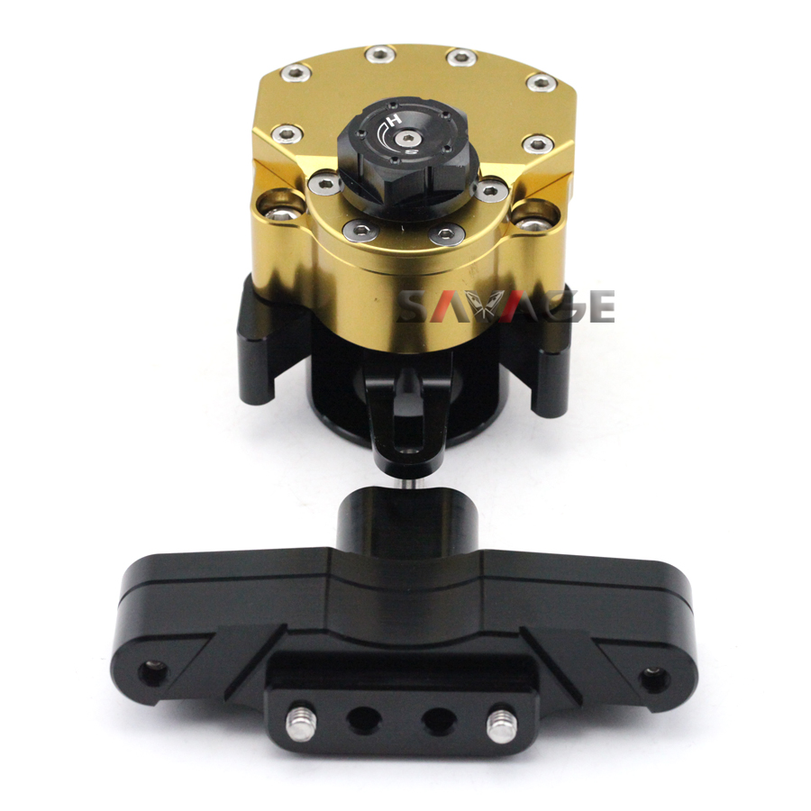 For HONDA CBR650F CBR 650F 2014-2015 Motorcycle Reversed Safety Adjustable Steering Damper Stabilizer with Mount Bracket for honda cbr 650f cbr650f 2014 2015 2016 motorcycle steering damper stabilizer adjustable linear with bracket kit c