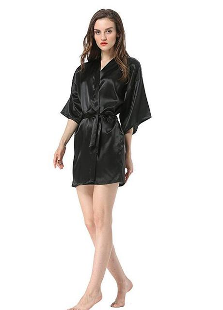 Chinese Style Faux Silk Night Gown  3
