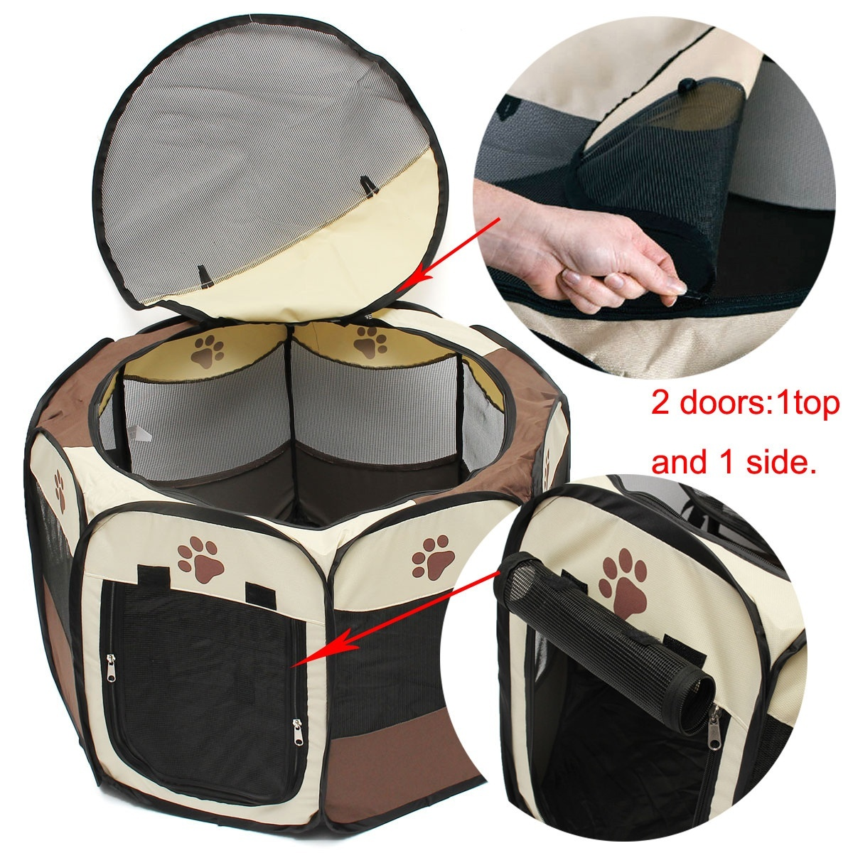 Foldable Dog Puppy Pet Soft Playpen Exercise Tent Cage Fence Crate Kennel