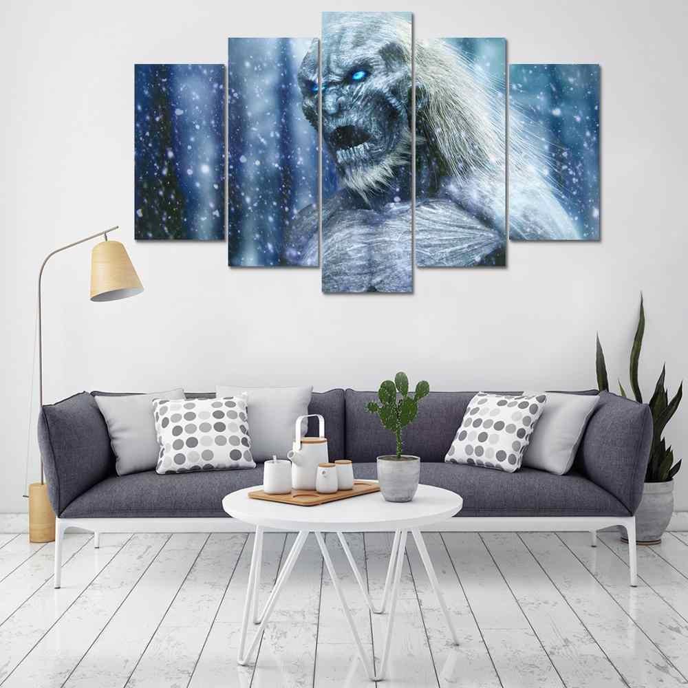 Oprawione HD drukuj 5 sztuk gra o tron płótno wall art malarstwo nowoczesne dekoracje do domu ściany obraz druk na płótnie malarstwo/PT1125
