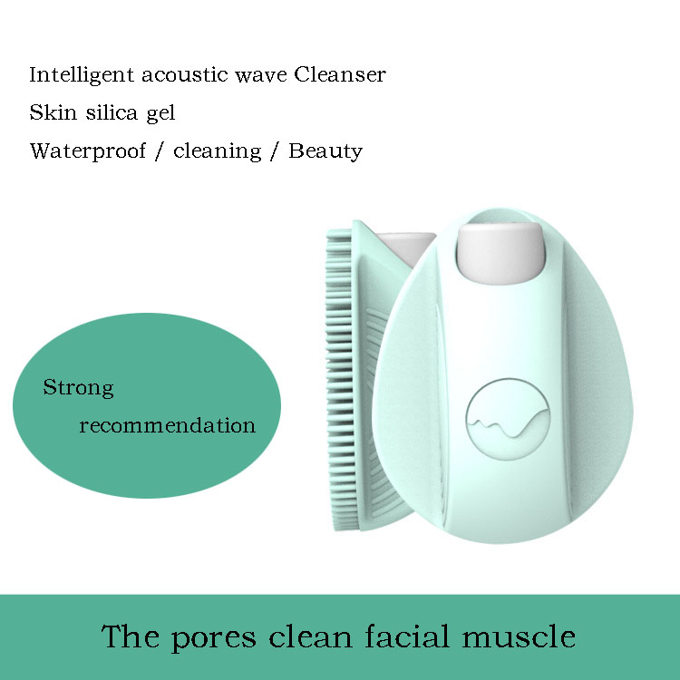 Ultrasonic wash face massage, electric facial cleanser to absorb black head and clean the silicone brush new 5in1 face brush cleansing multifunction electric ultrasonic wash spa skin care massage face brushes facial cleanser tool
