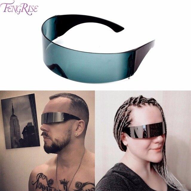 FENGRISE, gafas de sol futuristas envolventes, gafas de sol divertidas con ojos, lentes de sol para dama, novedad, decoración de fiesta Monob