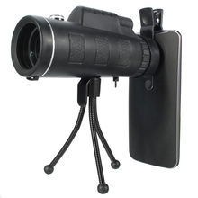 Cheaper 2 in 1 Universal 40X60 HD Portable Monocular Telescope Telephoto Lens Optical Prism Mobile Phone Camera Lens+Tripod for iPhone