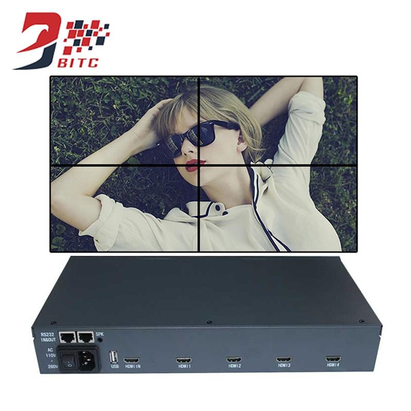 SZBITC Vidéo Contrôleur De Mur 2x2 1080 p HDMI 4 TV Écran Épissage processeur 180 Degrés Image Rotation