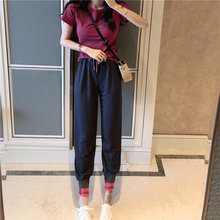 Hot Letter Print Tracksuits Women Two Piece Set Spring Street T-shirt Tops And Jogger Set Suits Mujer Casual 2pcs Outfits Wear pearl beading black tracksuits women two piece set 2018 street t shirt tops and jogger set suits casual bodcon 2pcs outfits