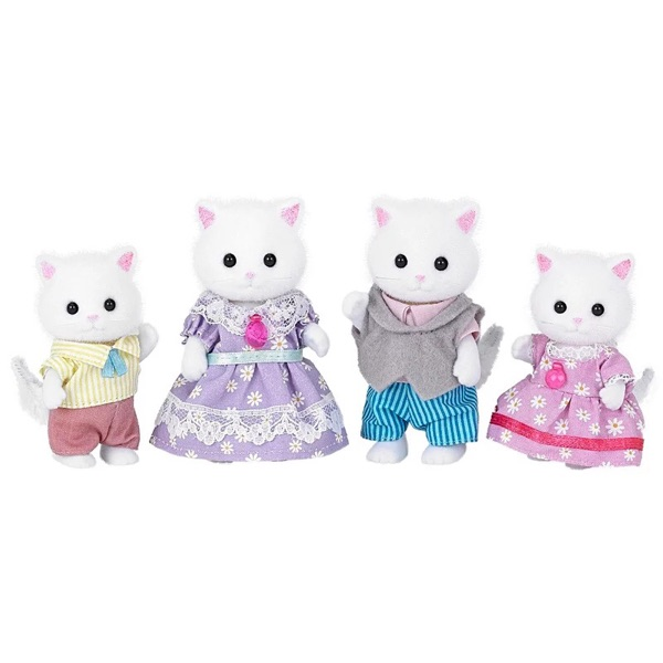 Persian cat family without original box Sylvanian Family mini size action Figures Anime Cartoon figures Toys Child Toys gift 6pcs set disney toys for kids birthday xmas gift cartoon action figures frozen anime fashion figures juguetes anime models