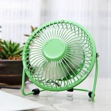 цена на Free shipping USB wrought iron fan 4 inch computer desktop mini fan portable aluminum leaf student dormitory desktop fan