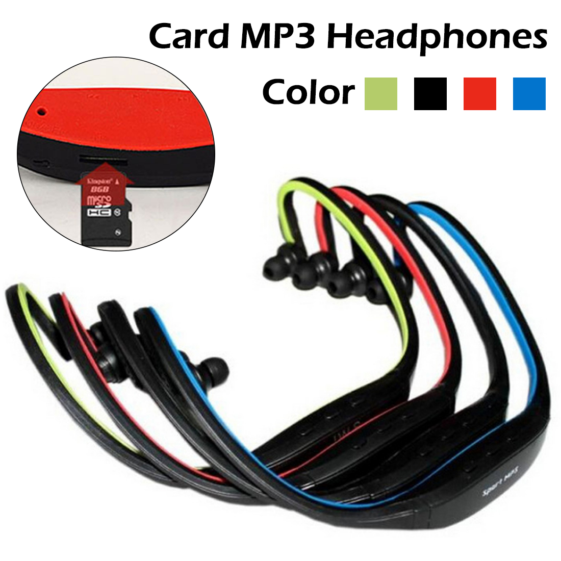 Portable Sport MP3 Player Portable Music Running Headphone Earphone Headset With TF Card Slot MP3 Music Player