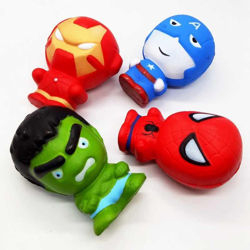 Marvel Super Hero Mole Infinito Guerra Avengers Hulk Homem De Ferro Capitão Americano Lento Aumento Descompressão Ventilação Jumbo Squishies PU