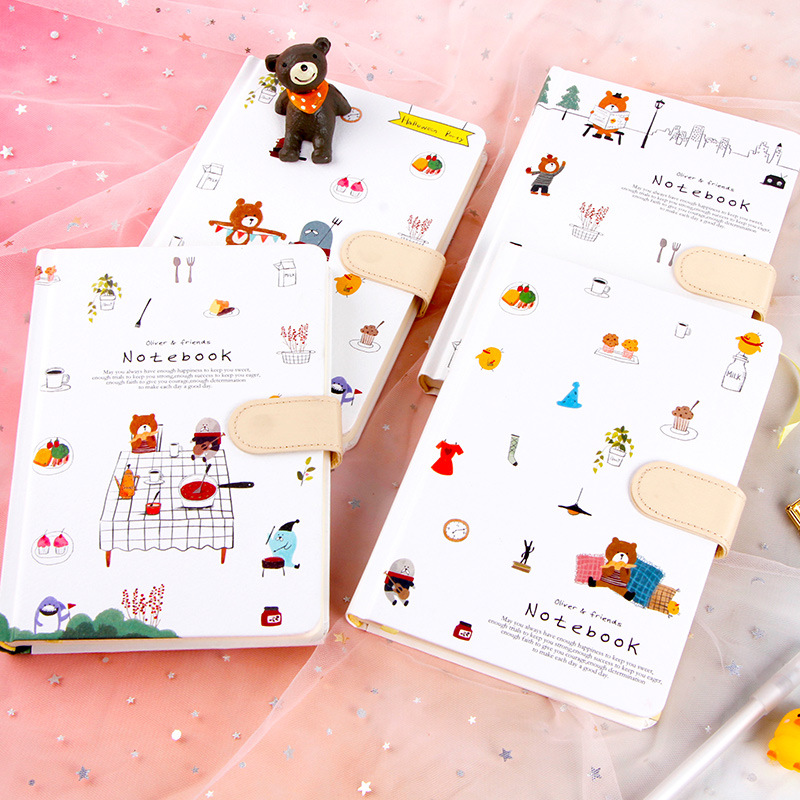 Notebook Girl Hand Book Small Fresh Creative Diary Cute Magnetic