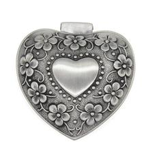 Vintage Antique Heart Shape Small Jewelry Box for Rings